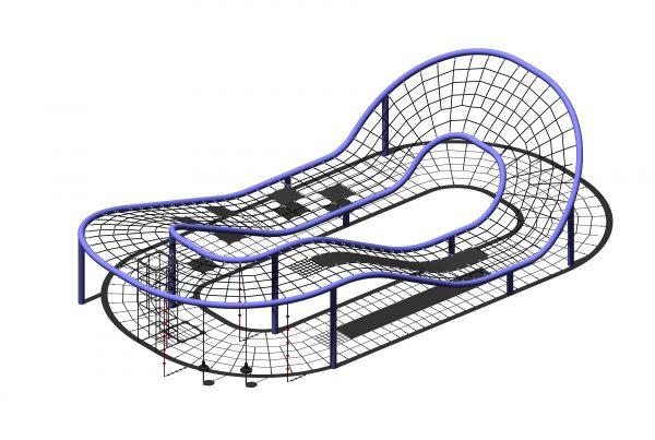 Spaghetti structure playground equipment